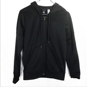 Adidas Women Black Full Zip Up Hoodie Jacket Small